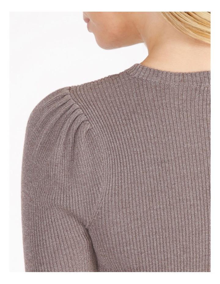 Metallic Puff Sleeve Knit Top image 4