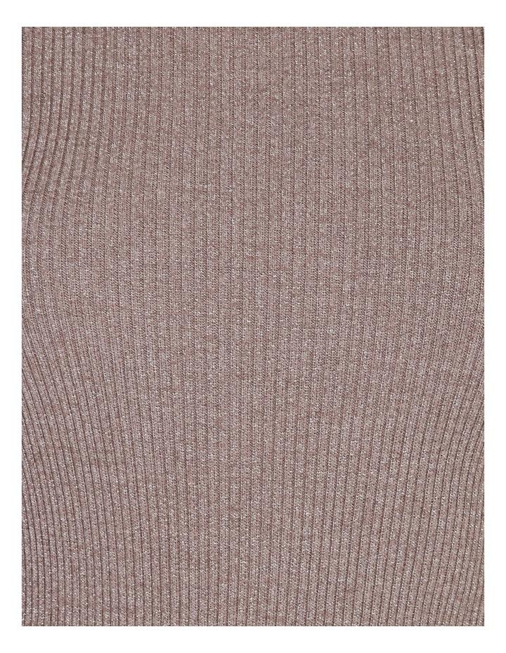 Metallic Puff Sleeve Knit Top image 5