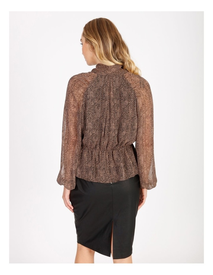 Statement Pussy Bow Sheer Blouse image 3