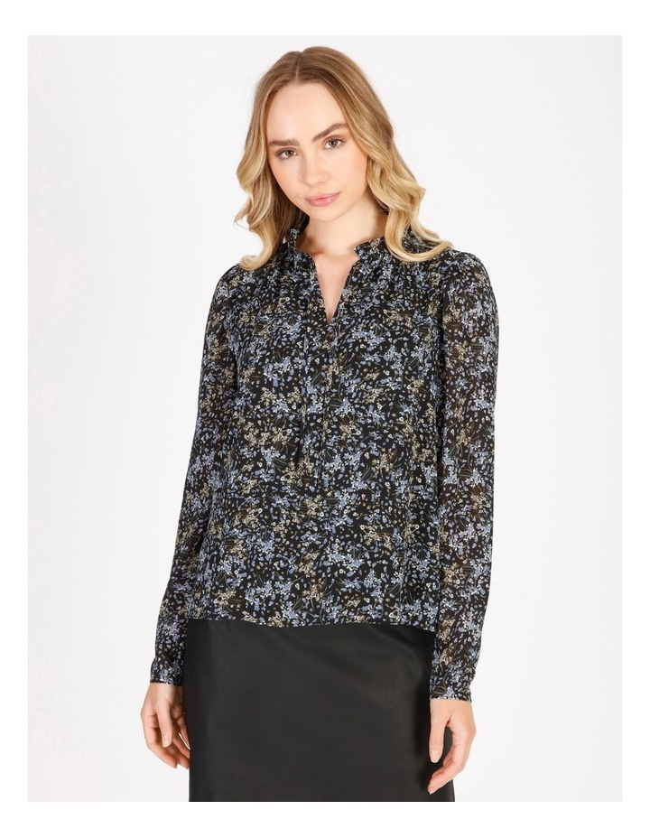 Puff Sleeve Tie Neck Blouse image 1