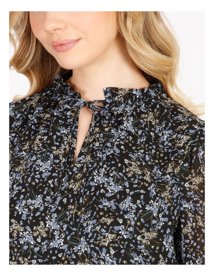 Puff Sleeve Tie Neck Blouse image 4