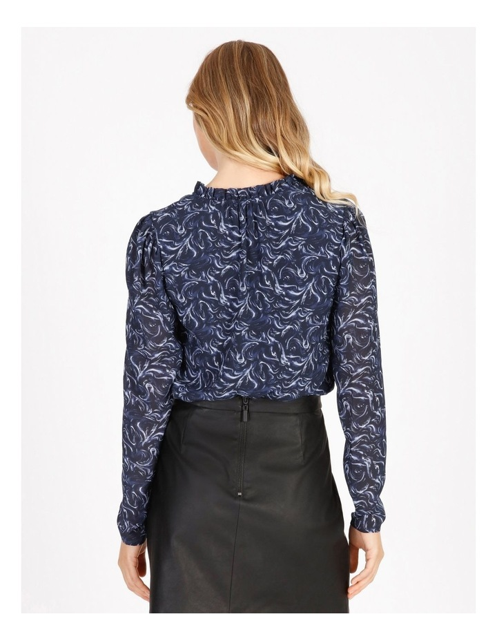 Puff Sleeve Tie Neck Blouse image 3
