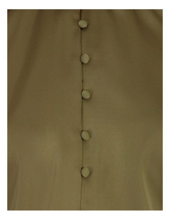 Button Detail Satin Blouse image 5