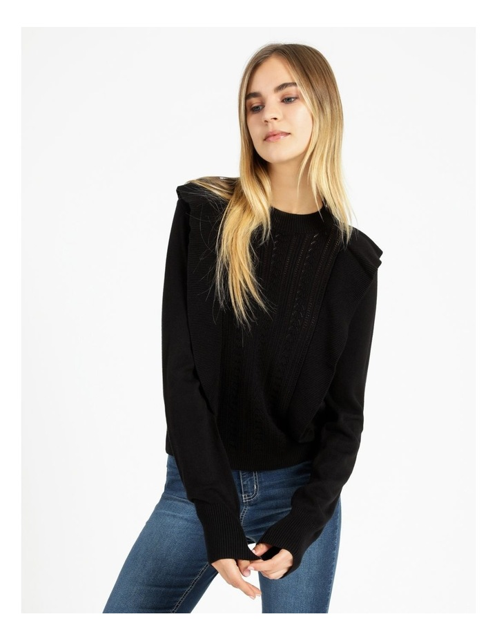 Frill Pointelle Feature Knit Top image 1