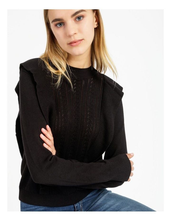 Frill Pointelle Feature Knit Top image 2