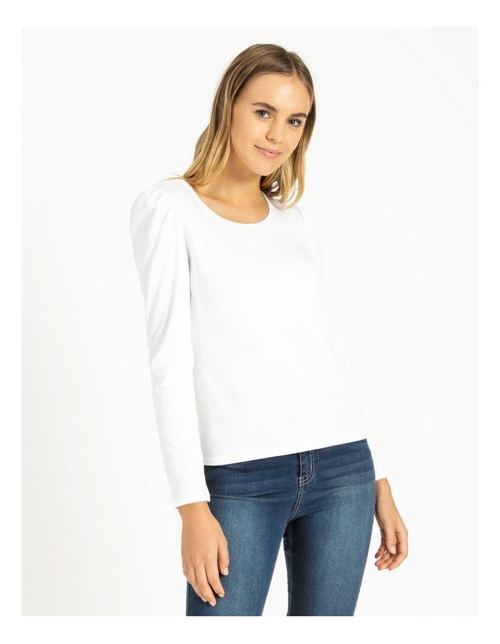 Puff Sleeve Organic Cotton Blend Top image 1