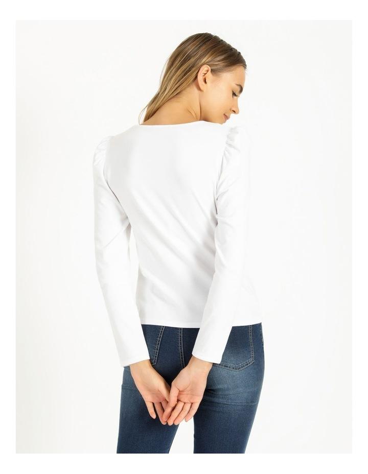 Puff Sleeve Organic Cotton Blend Top image 3