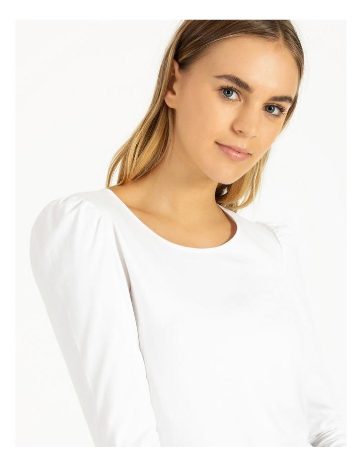 Puff Sleeve Organic Cotton Blend Top image 5