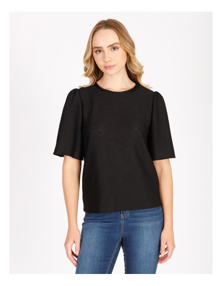 Textured Flutter Sleeve T-Shirt image 1