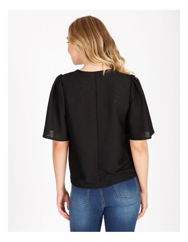 Textured Flutter Sleeve T-Shirt image 3
