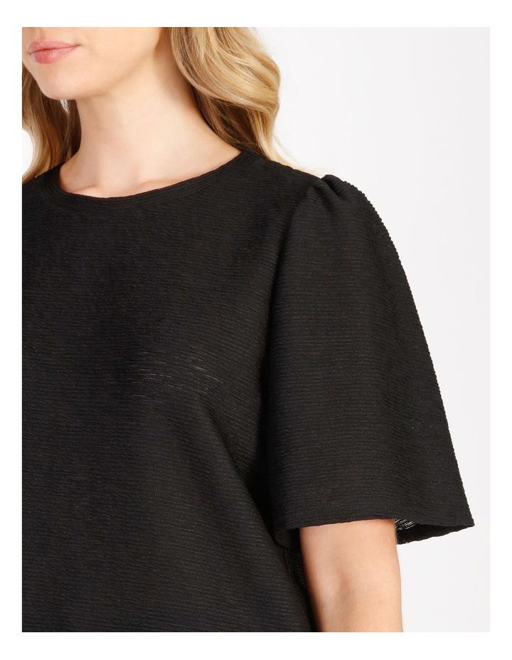Textured Flutter Sleeve T-Shirt image 4