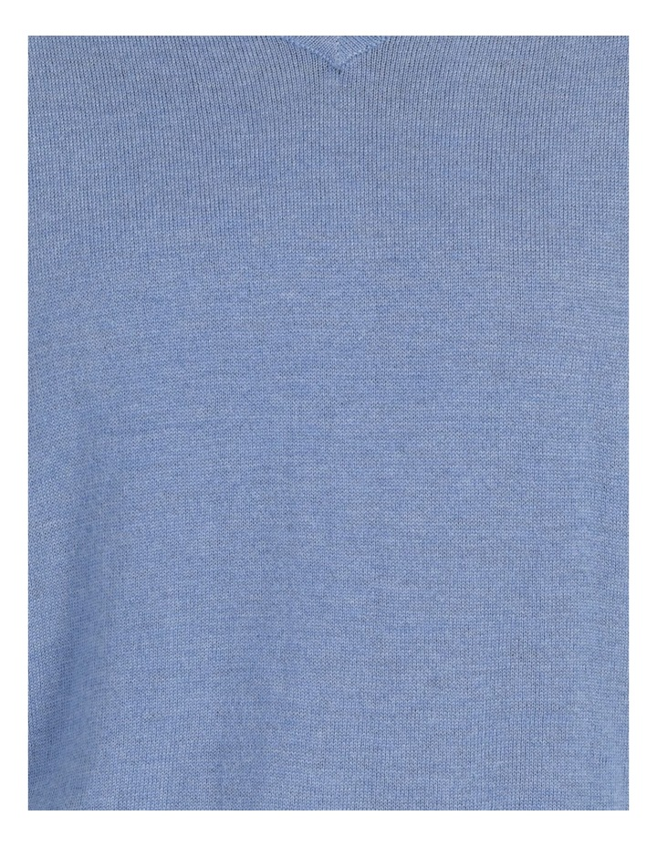 Relaxed V-Neck Wool Blend Knitted Top image 6