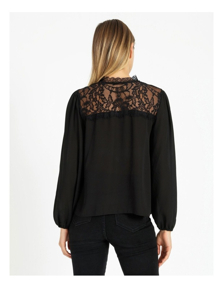 Lace Yoke Blouse With Tie image 3
