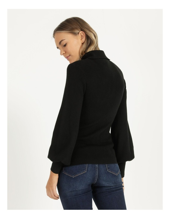 Blouson Sleeve Roll Neck Knitted Top image 4