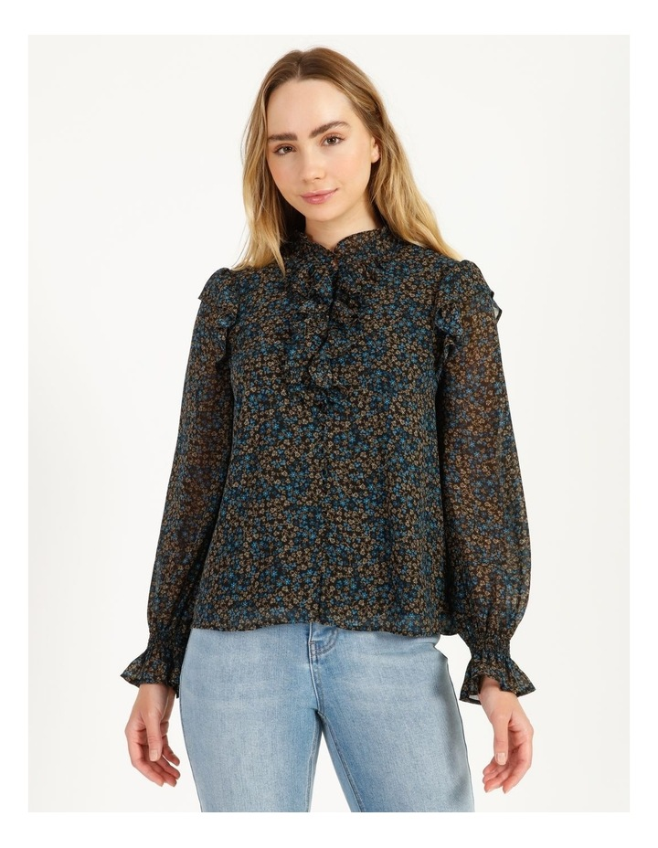 Self Covered Button Blouse image 1