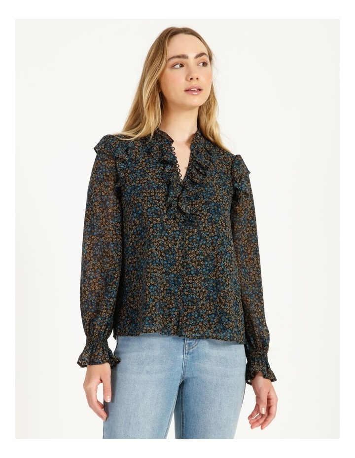 Self Covered Button Blouse image 4
