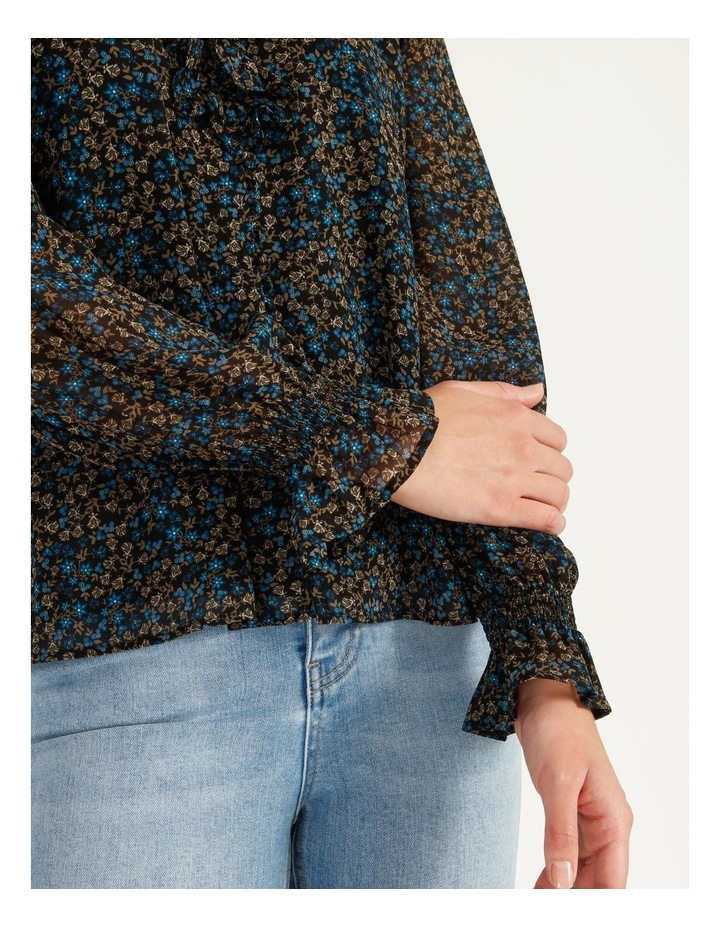 Self Covered Button Blouse image 6
