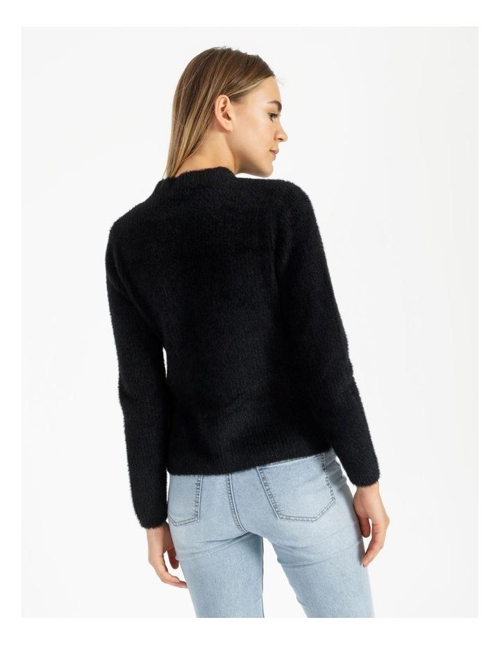 High Neck Soft & Fluffy Knit Top image 4