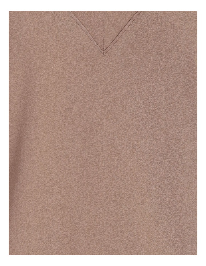 V-Neck Relaxed Jersey Spliced Top image 6