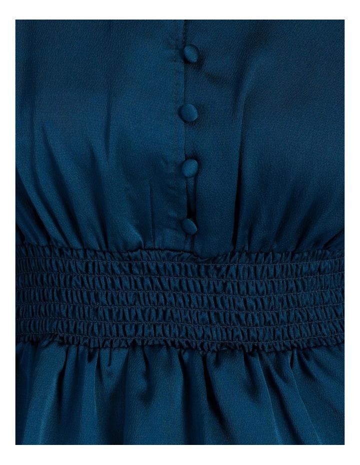 Satin Shirred Waist Button Through Top image 4