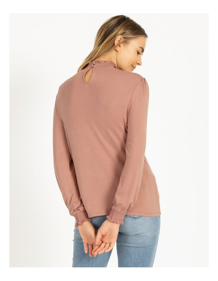 High Neck Shirred Detail Jersey Top image 3