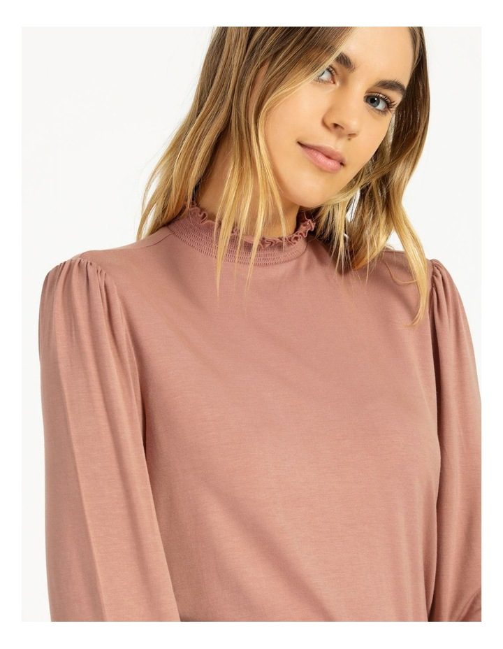 High Neck Shirred Detail Jersey Top image 6