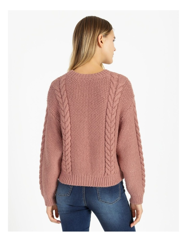 Crew Neck Cable Knit Jumper image 3