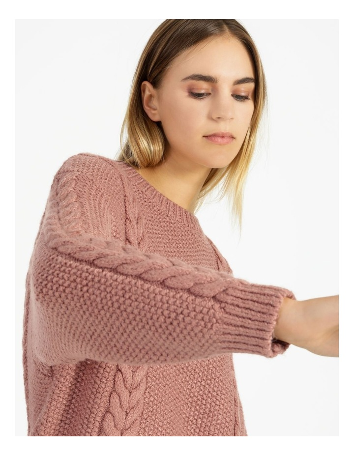 Crew Neck Cable Knit Jumper image 4