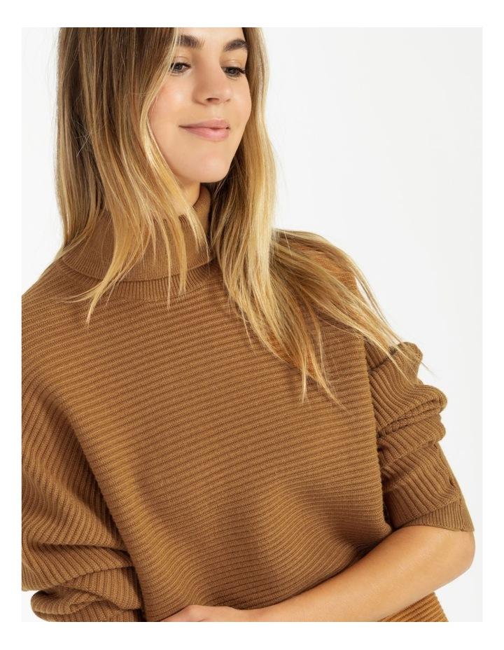 Vertical Knit Roll Neck Jumper image 5