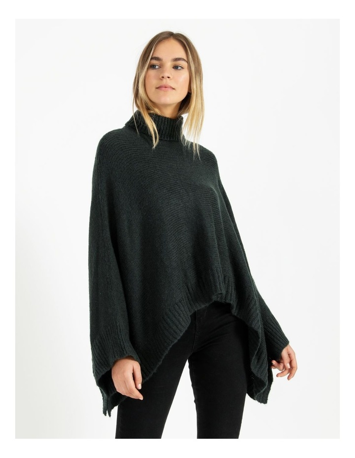 Roll Neck Knitted Poncho image 3