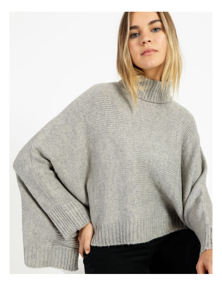 Roll Neck Knitted Poncho image 1