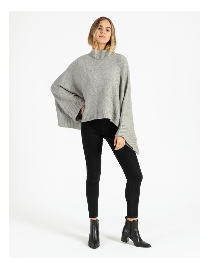 Roll Neck Knitted Poncho image 2
