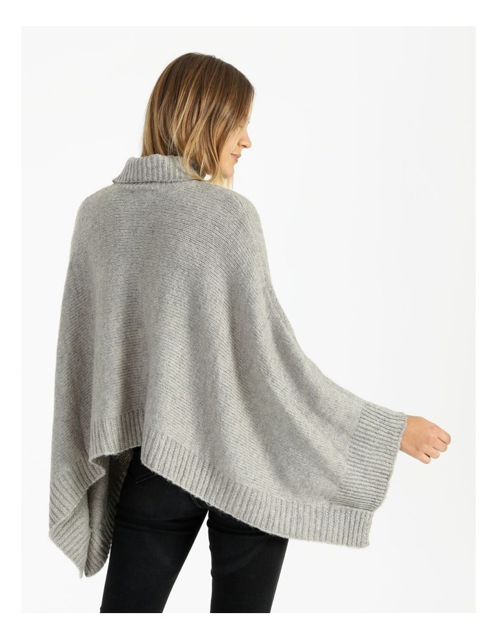 Roll Neck Knitted Poncho image 5