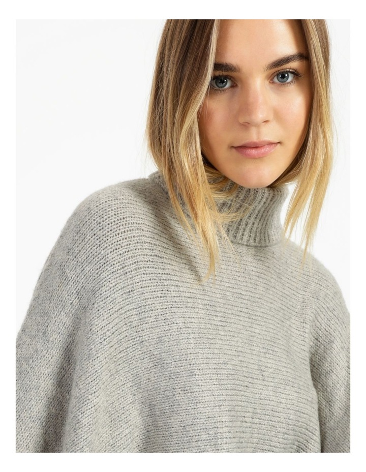 Roll Neck Knitted Poncho image 6