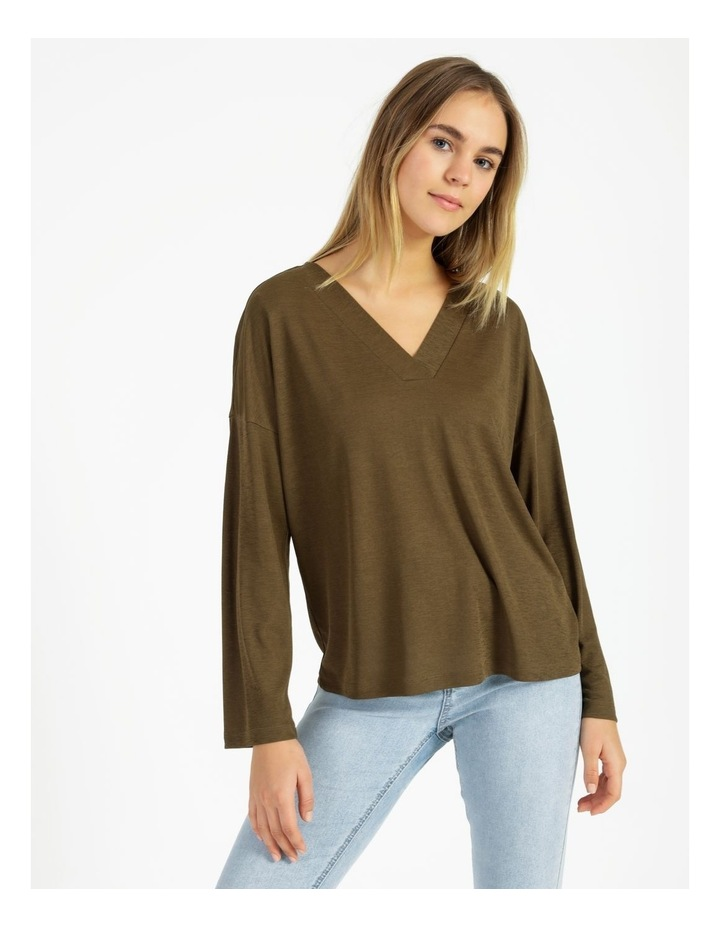 V-Neck Relaxed Jersey Top image 1