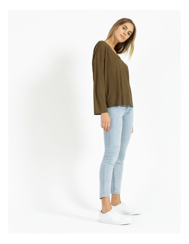 V-Neck Relaxed Jersey Top image 2