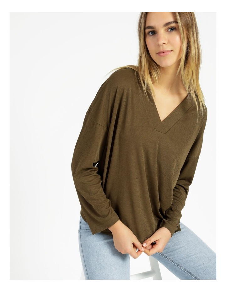 V-Neck Relaxed Jersey Top image 4
