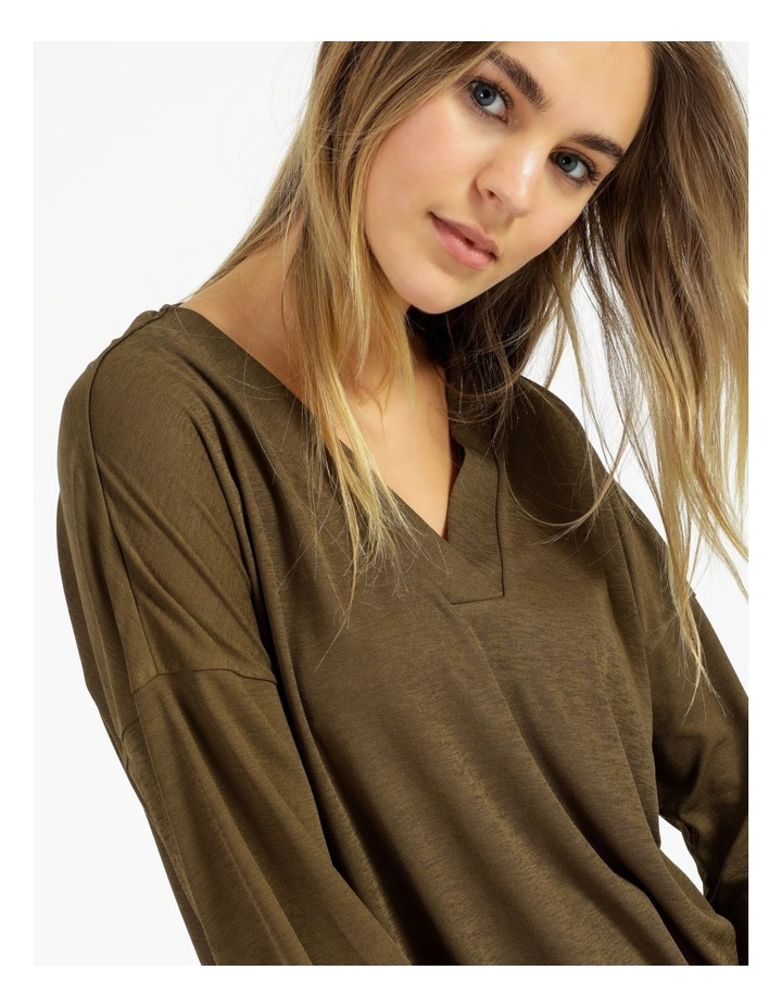 V-Neck Relaxed Jersey Top image 5