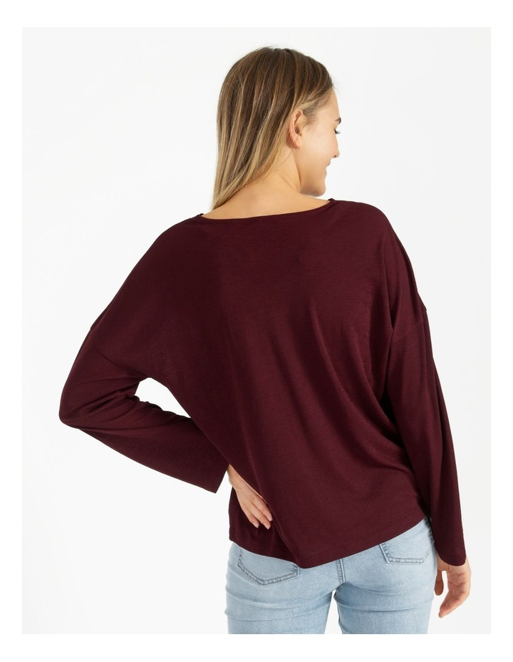 V-Neck Relaxed Jersey Top image 3