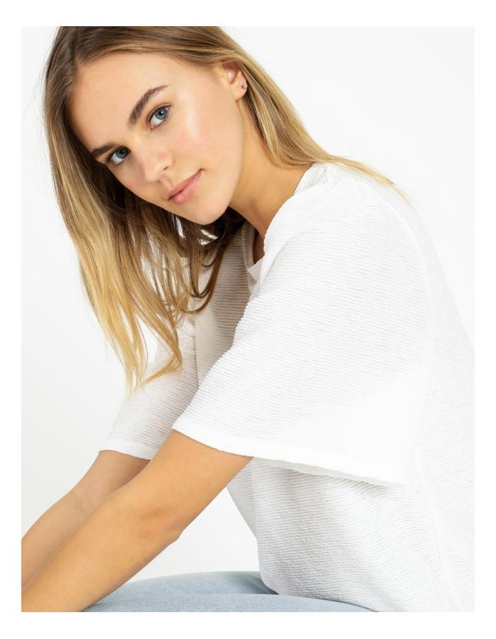 Textured Flutter Sleeve T-Shirt image 5