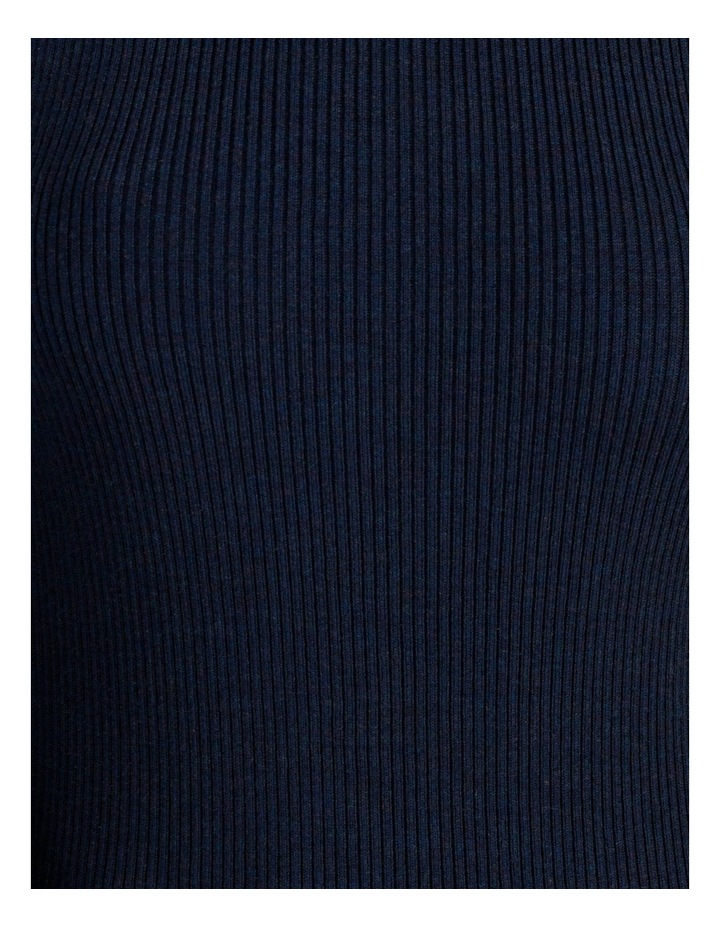 Blouson Sleeve Roll Neck Wool Blend Knitted Top image 7