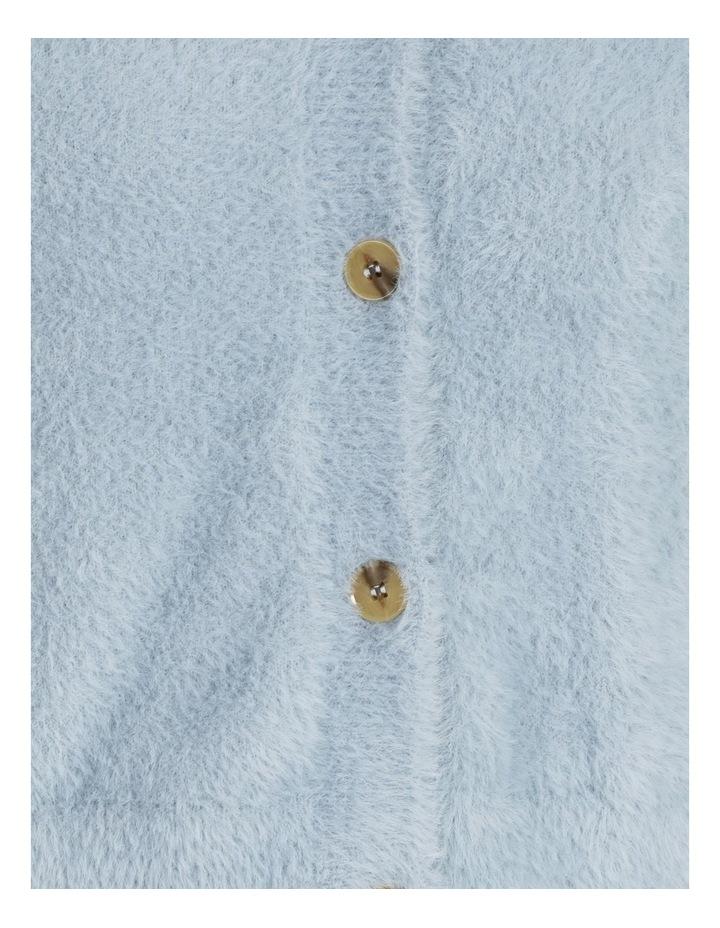 Fluffy V-Neck Blouson Sleeve Cardi image 5