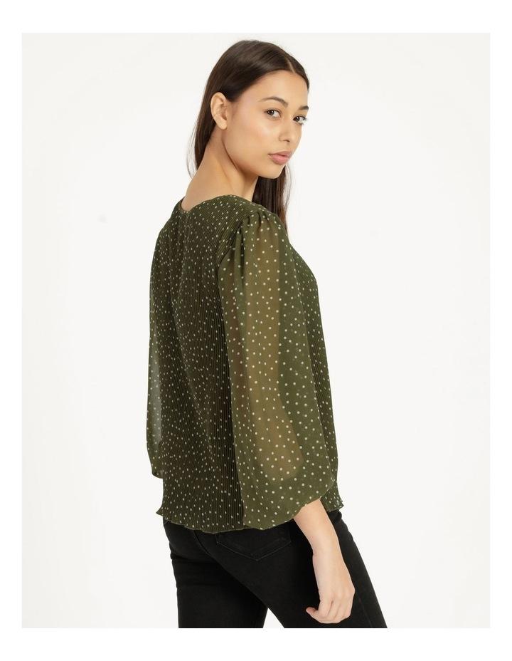 V-Neck Long Sleeve Blouse Khaki image 4