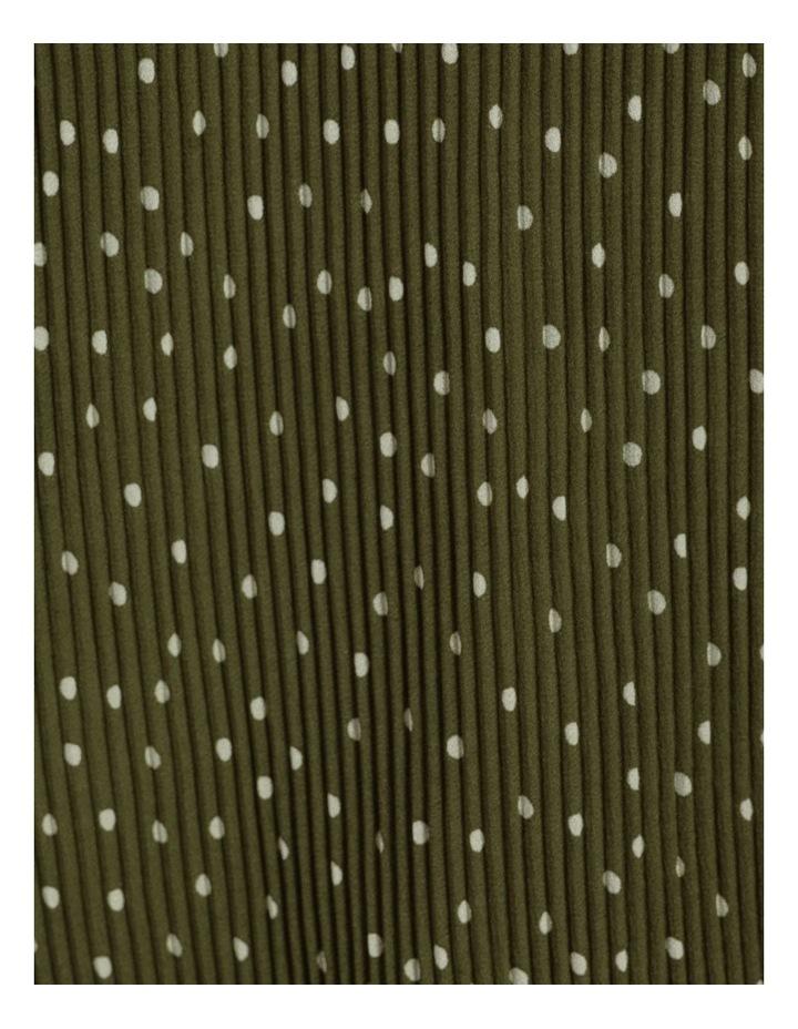 V-Neck Long Sleeve Blouse Khaki image 7