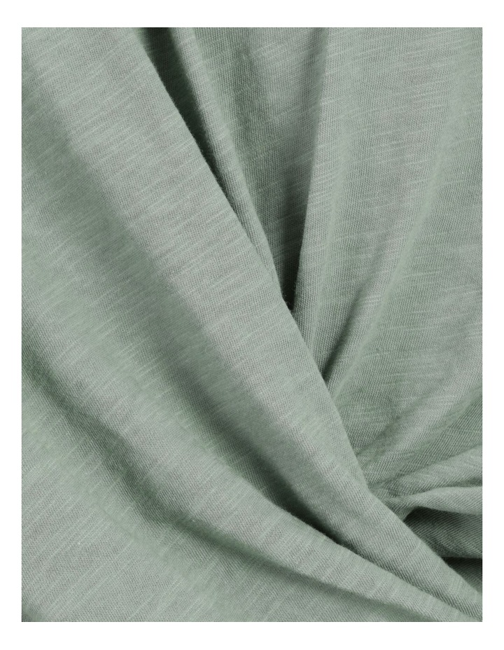 Organic Cotton Twist Front Tee Soft Sage image 7