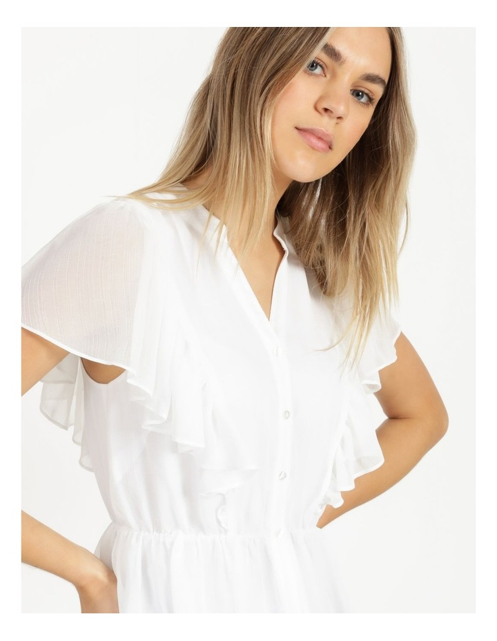 Button Through Flutter Sleeve Top White image 6