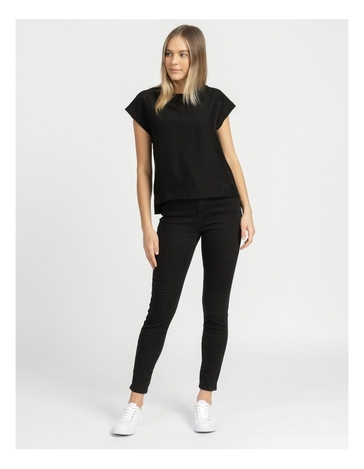 Relaxed Short Sleeve Top Black image 1