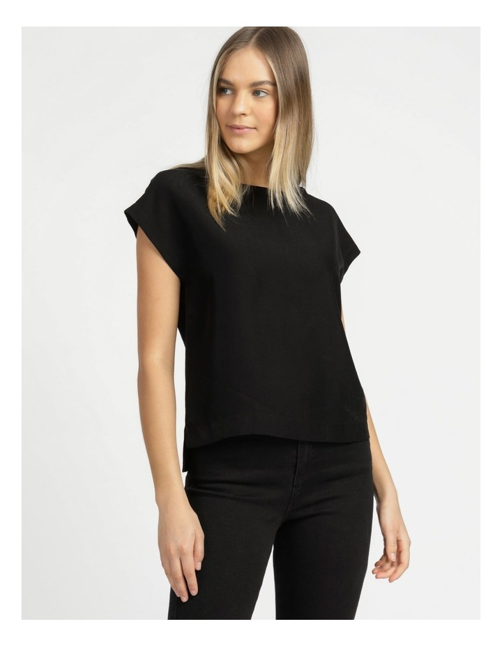 Relaxed Short Sleeve Top Black image 2