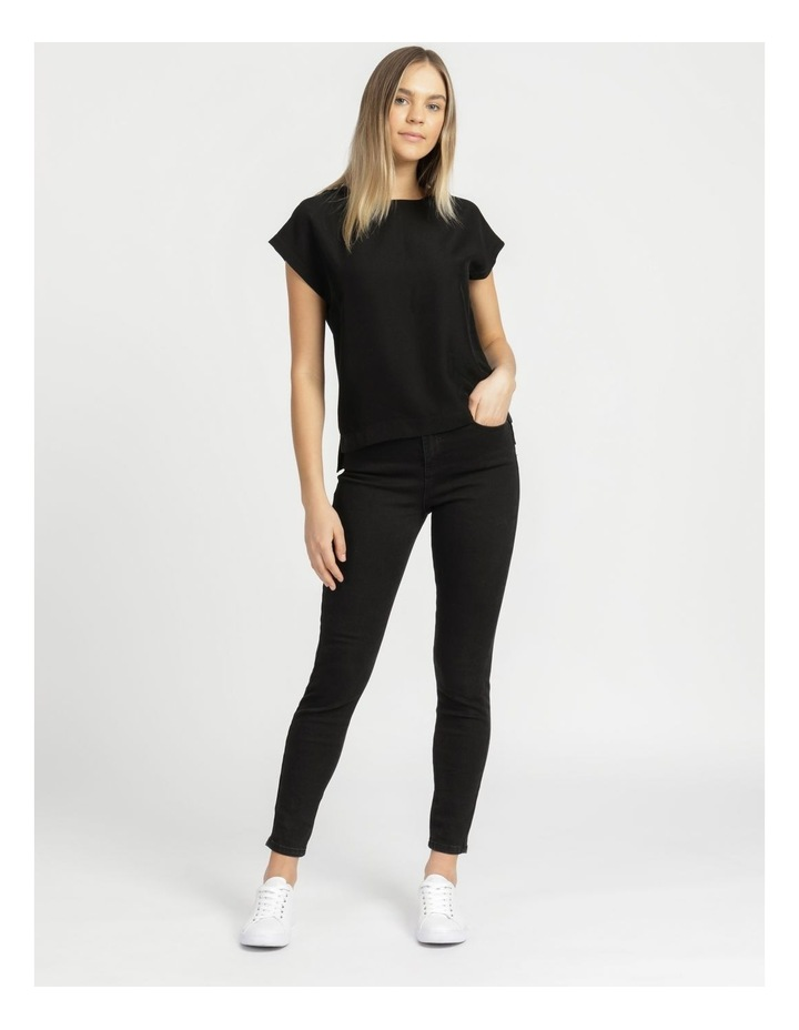 Relaxed Short Sleeve Top Black image 3