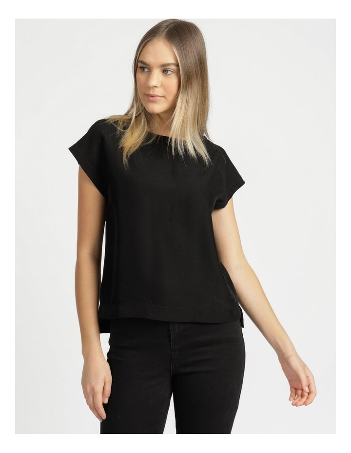 Relaxed Short Sleeve Top Black image 4